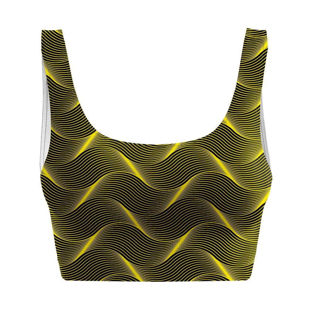 Top Regata Psicodélico Insane Curves Yellow