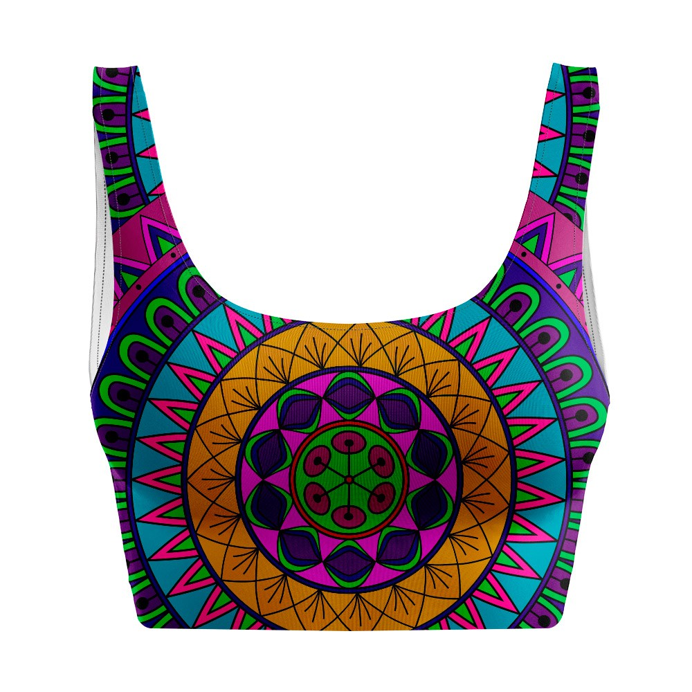 Top Regata Psicodélico Mandala Collors