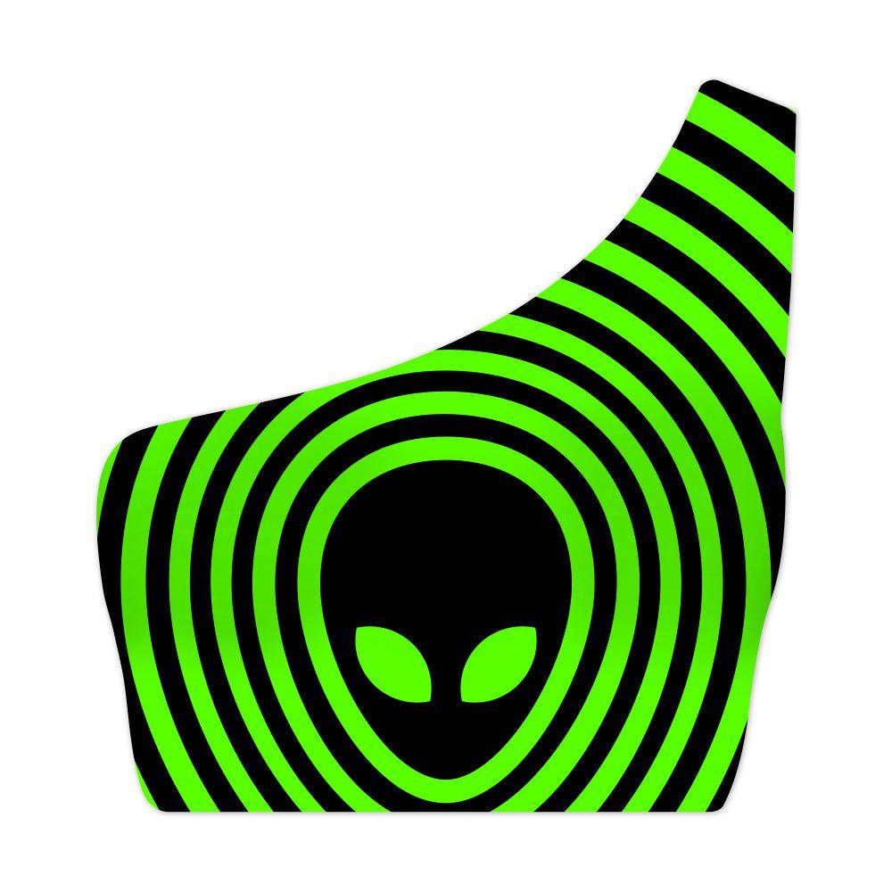 Top Um Ombro Só Alien Psicodélico