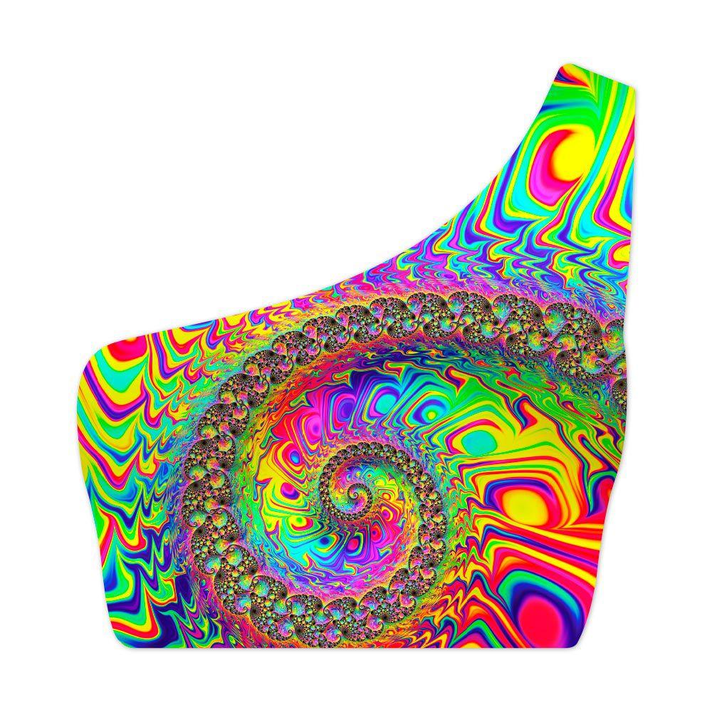 Top Um Ombro Só Alucination Colors