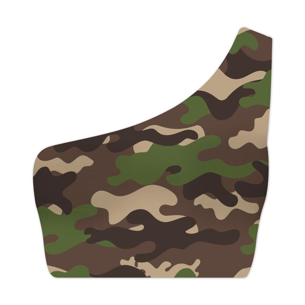 Top Um Ombro Só Camuflado Exército