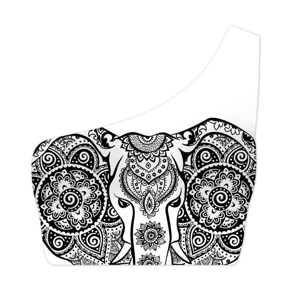 Top Um Ombro Só Ethnic Elephant