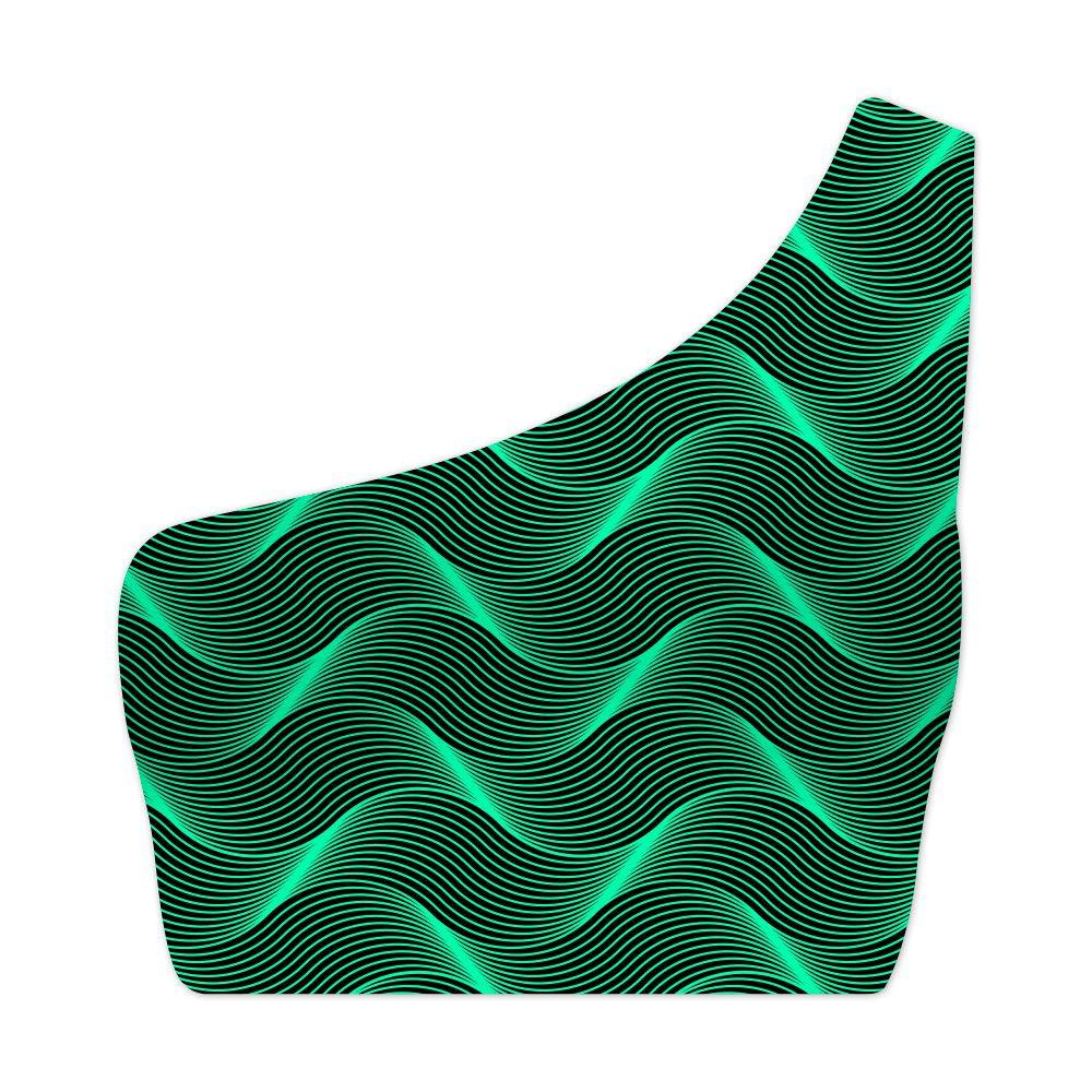 Top Um Ombro Só Insane Curves Green