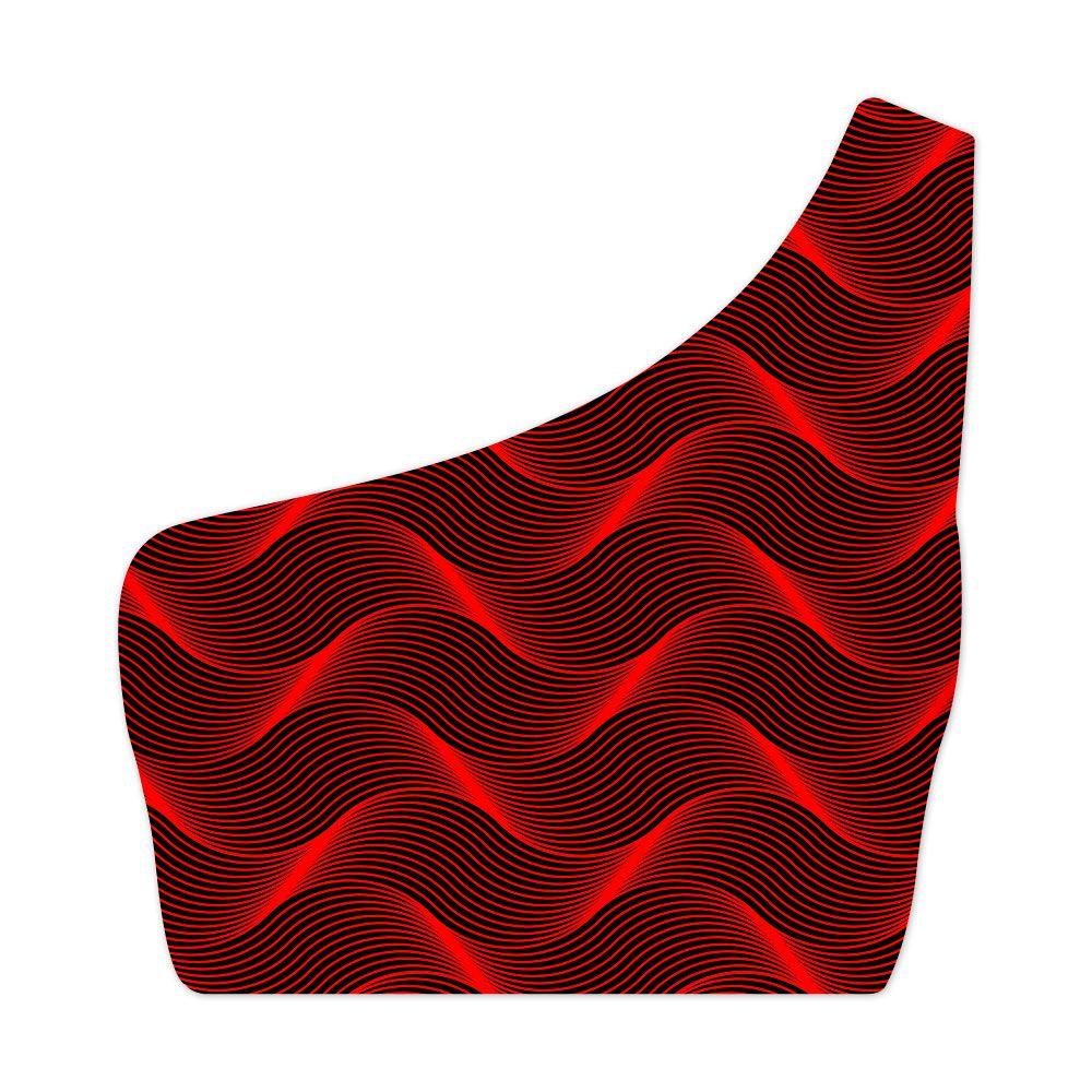 Top Um Ombro Só Insane Curves Red
