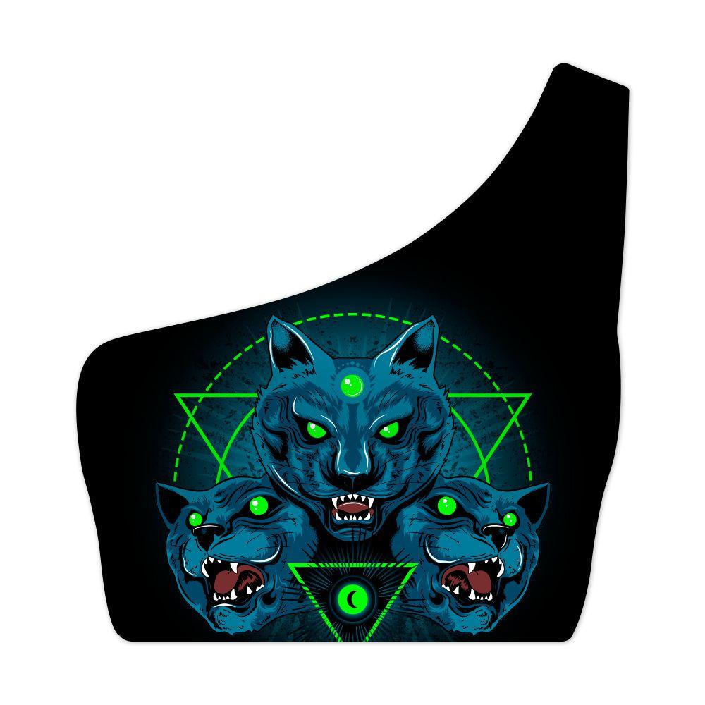 Top Um Ombro Só Mystical Wolf