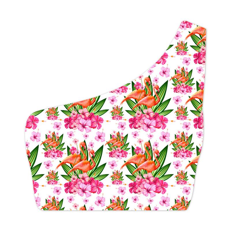 Top Um Ombro Só Pássaro Flamingo