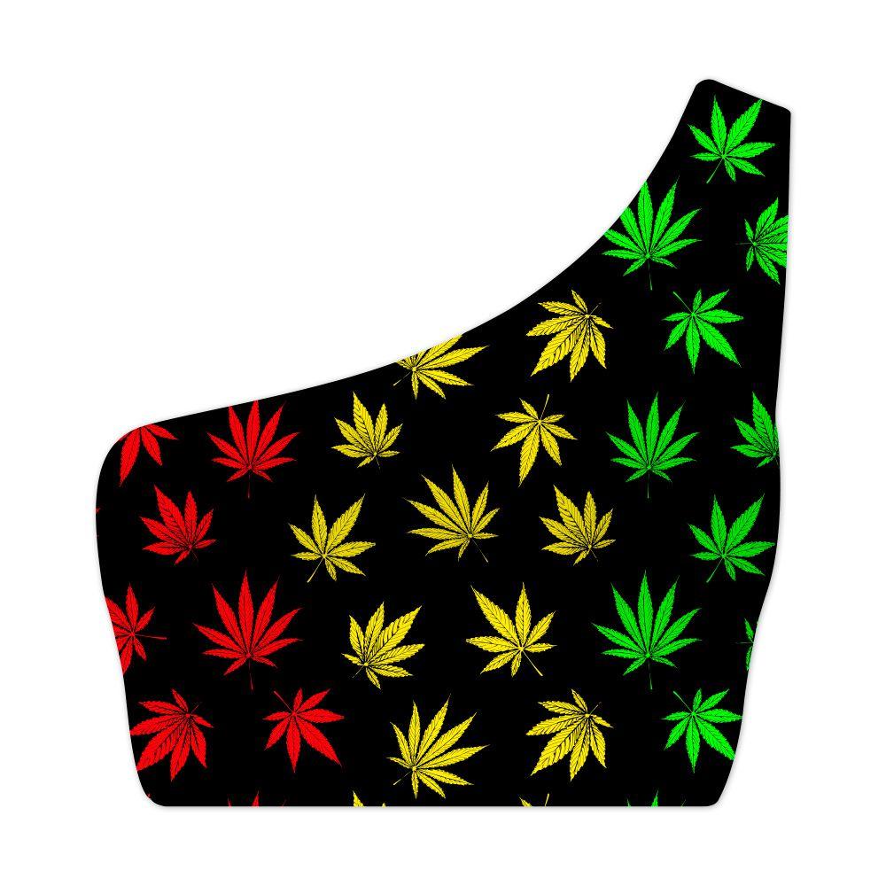 Top Um Ombro Só Psicodélico Cannabis Reggae