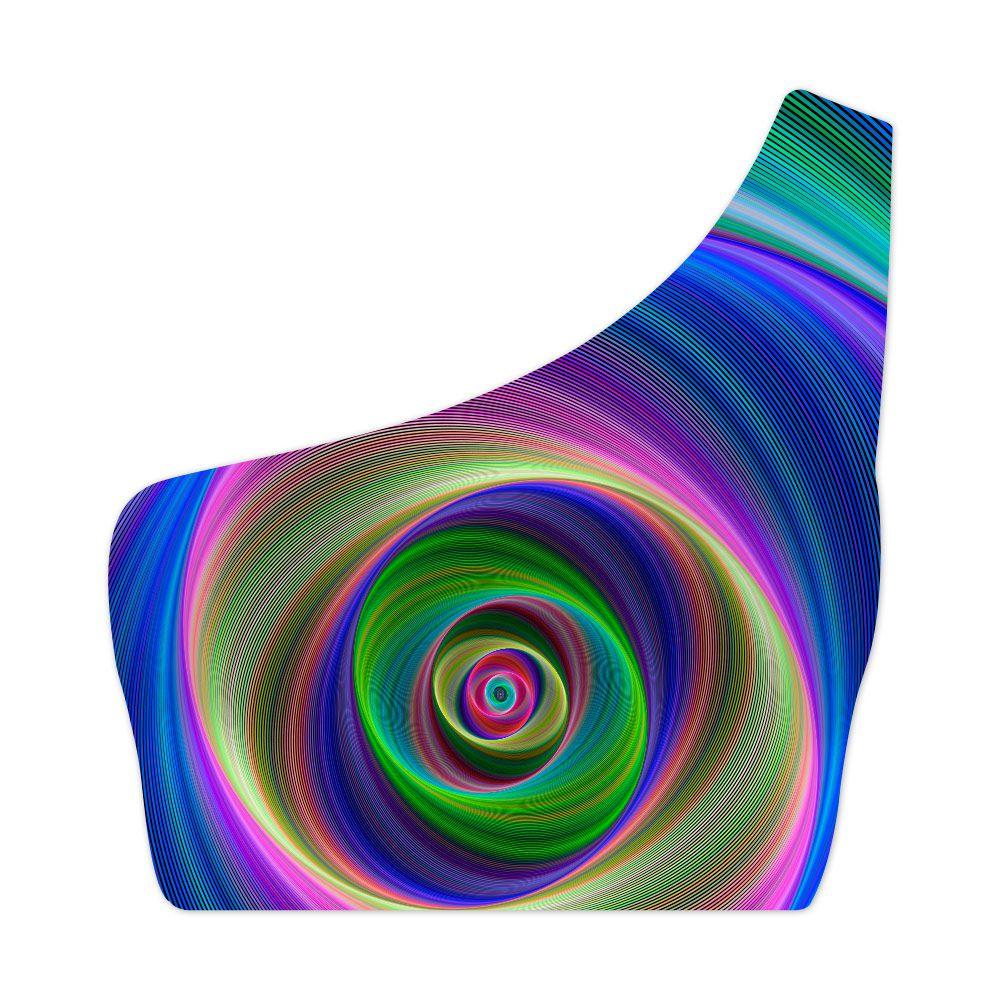 Top Um Ombro Só Psicodélico Colorful