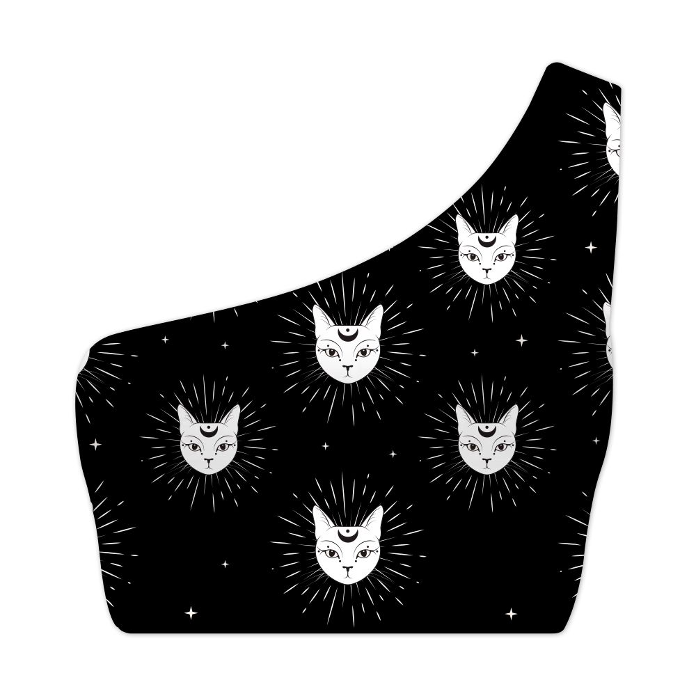 Top Um Ombro Só Psicodélico Mystic Cats