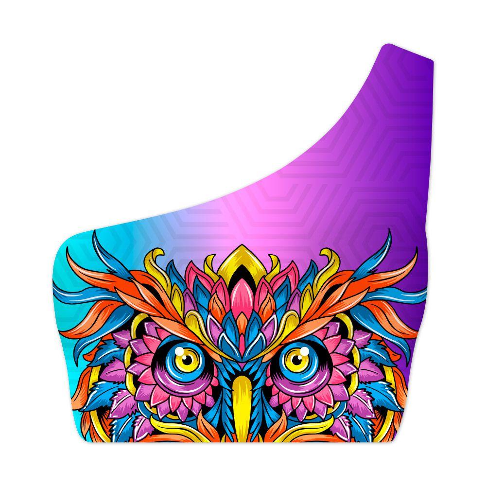 Top Um Ombro Só Psicodélico Owl Colors