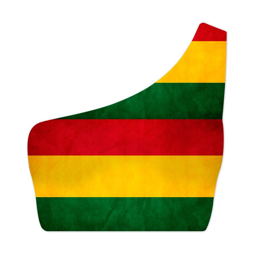 Top Um Ombro Só Psicodélico Reggae Flag
