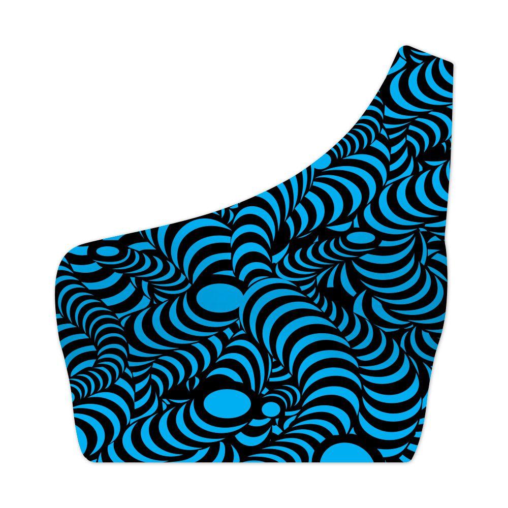 Top Um Ombro Só Psicodélico Snakes Blue
