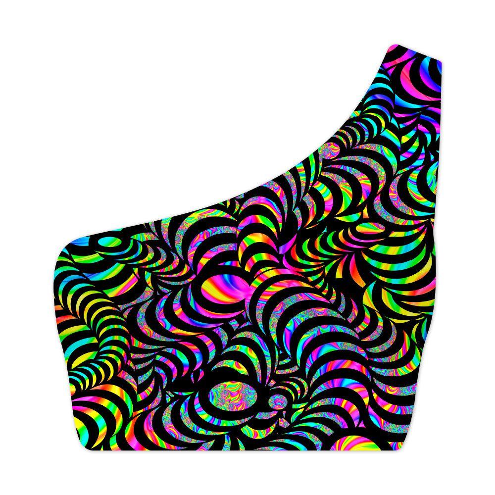 Top Um Ombro Só Psicodélico Snakes Colors