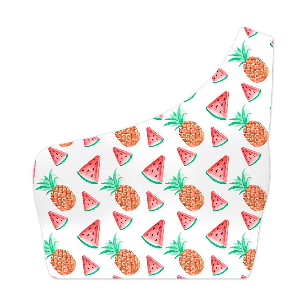 Top Um Ombro Só Tropical Fruits