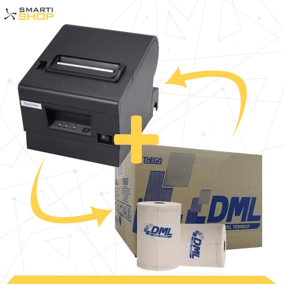 Impressora Térmica XP-D600 Ethernet + 1 Caixa De Bobina DML 80x40 30un