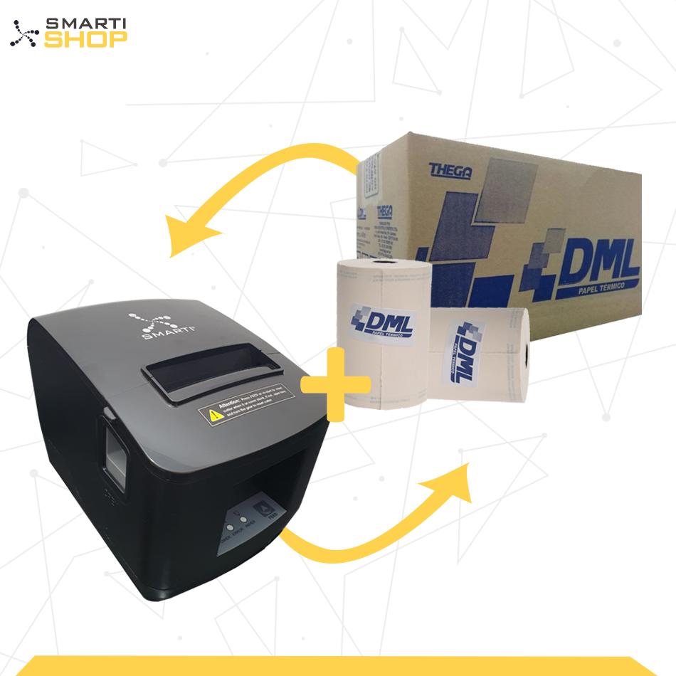 Impressora Térmica XP SMARTI + 1 Caixa De Bobina DML 80x40 30un