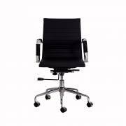 Cadeira Escritório Stripes Diretor PU Preta