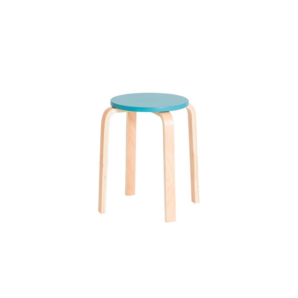 Banqueta Empilhável Design Retrô 51 Azul Claro