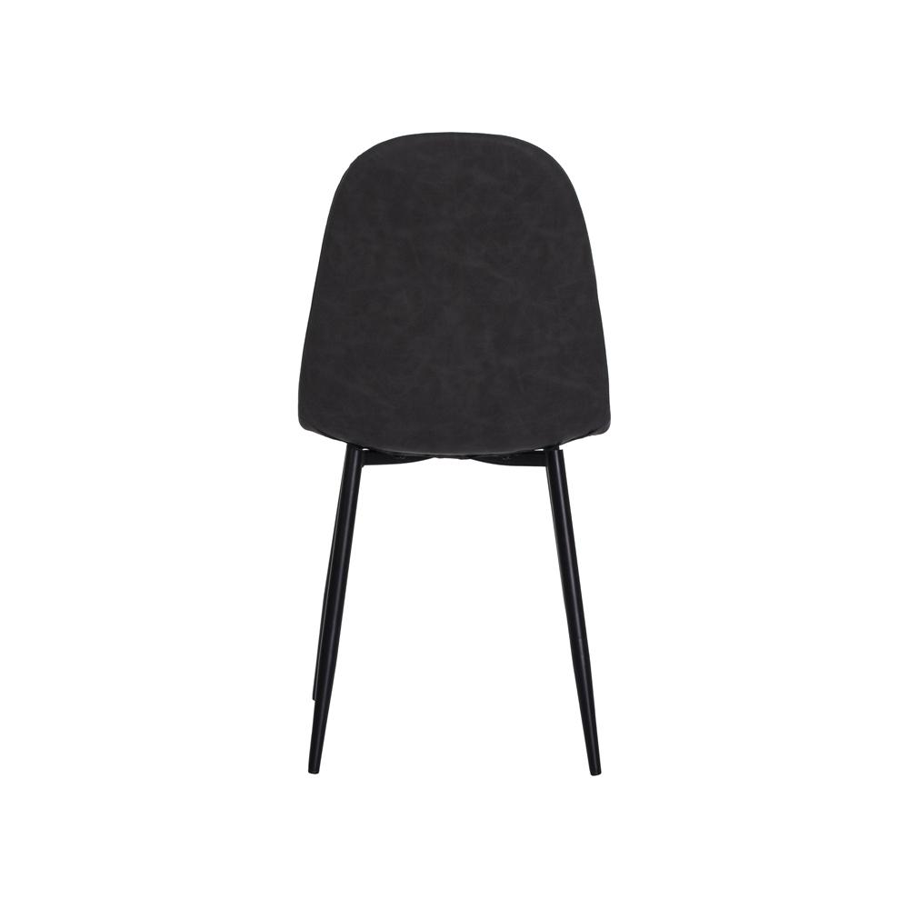 Cadeira Dina Cinza Base Ferro Sala Cozinha Jantar
