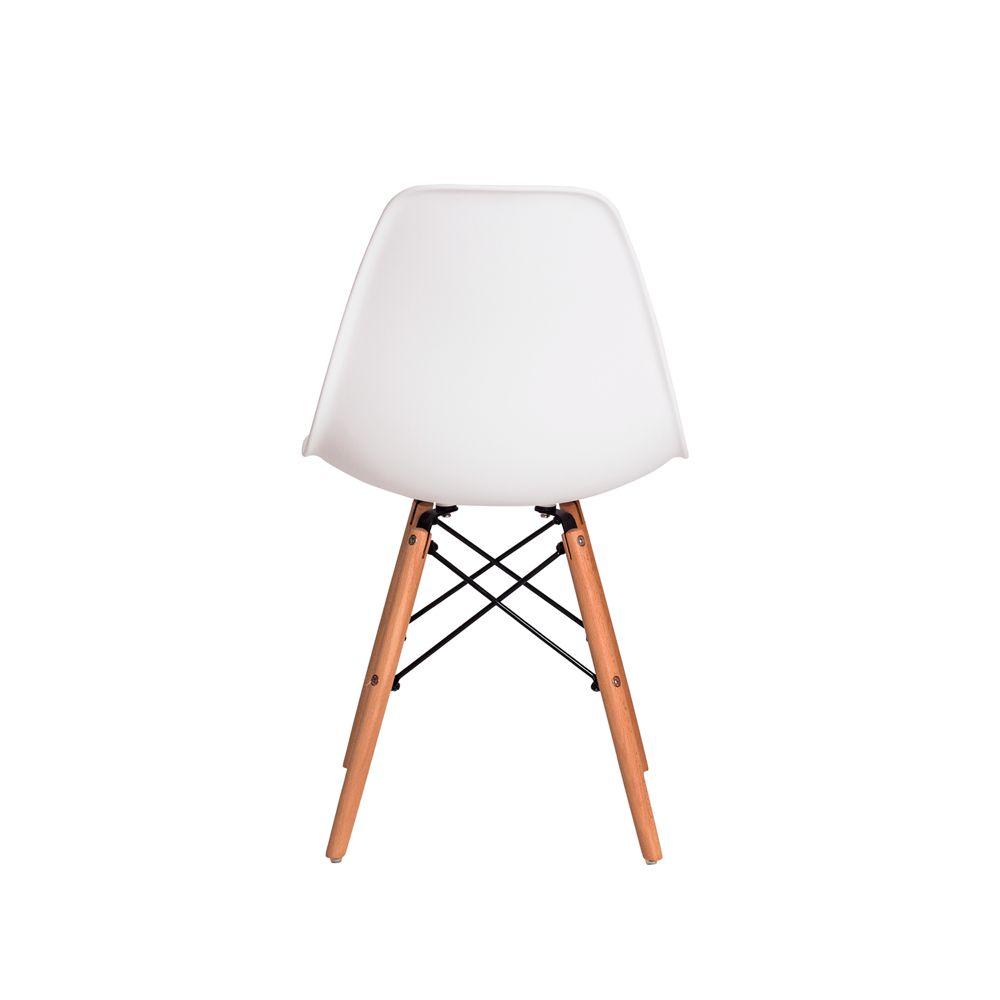 Cadeira Eiffel Eames DSW Branco Base Madeira
