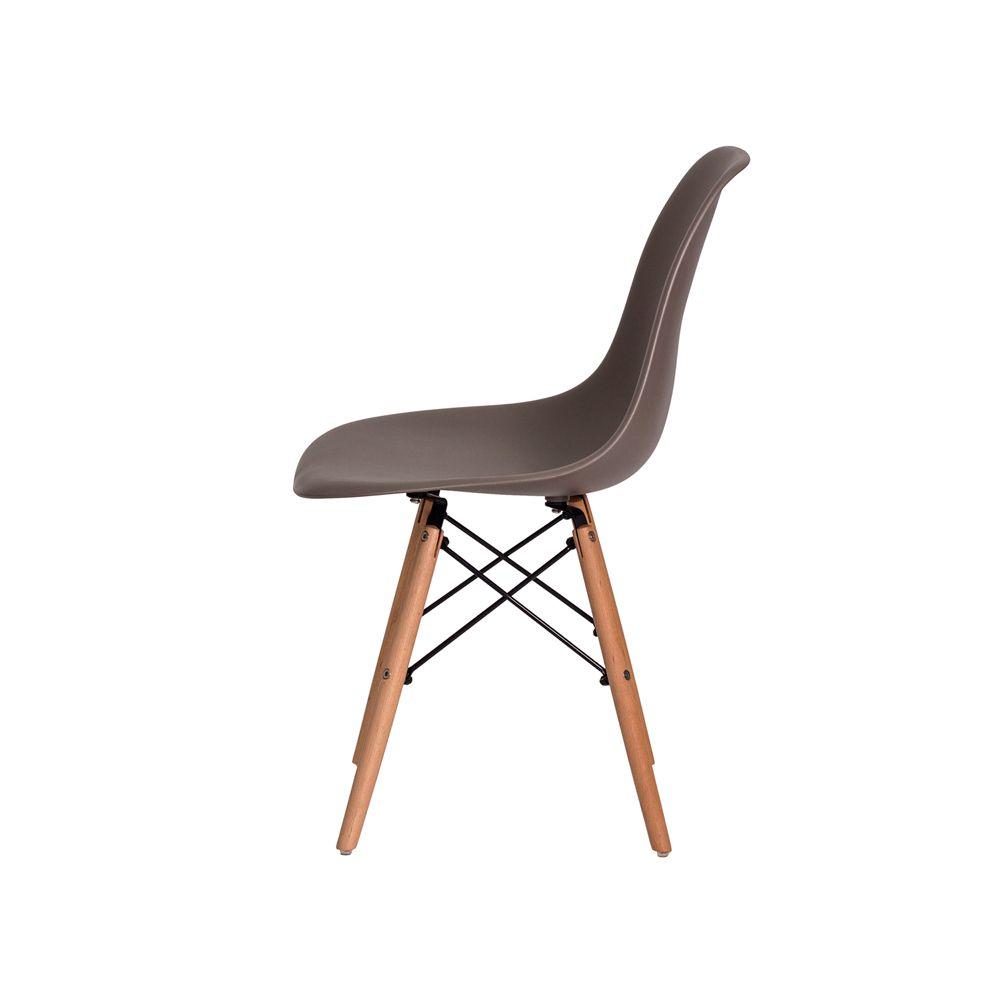 Cadeira Eiffel Eames DSW Cinza Base Madeira