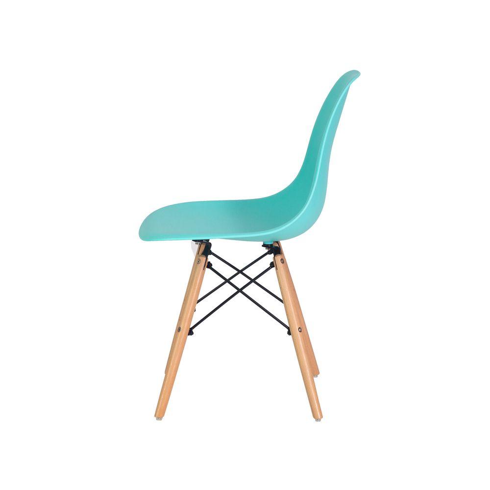 Cadeira Eiffel Eames DSW Tiffany Base Madeira