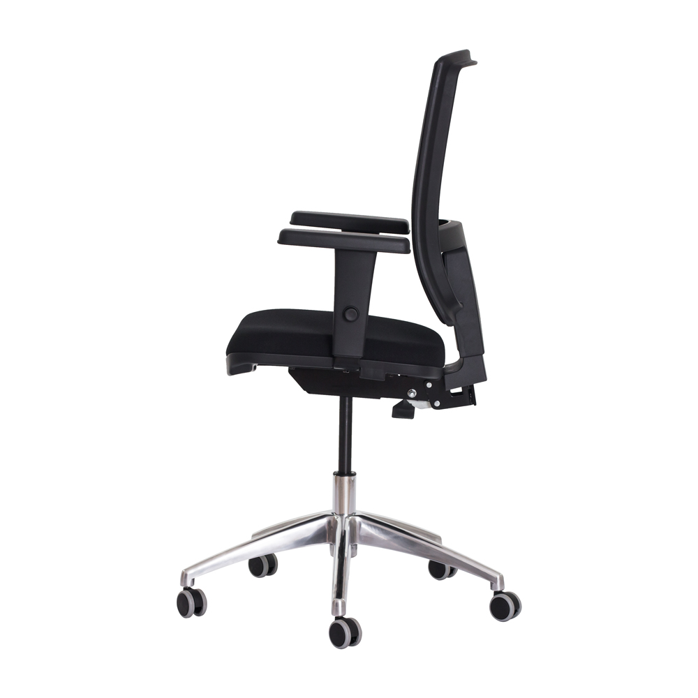 Cadeira Ergonômica Escritório Milan Diretor Preta Base Giratória Altura Ajustável