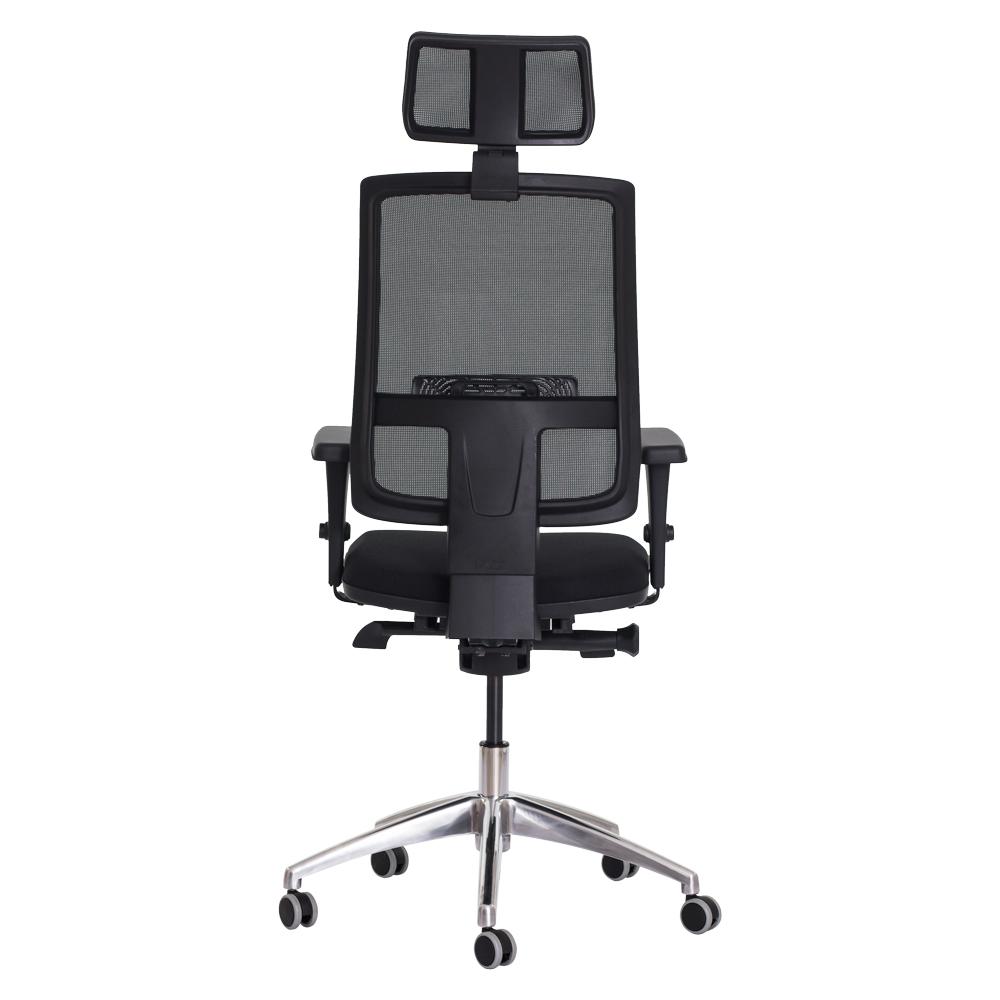 Cadeira Ergonômica Escritório Milan Presidente Preta Base Giratória Altura Ajustável