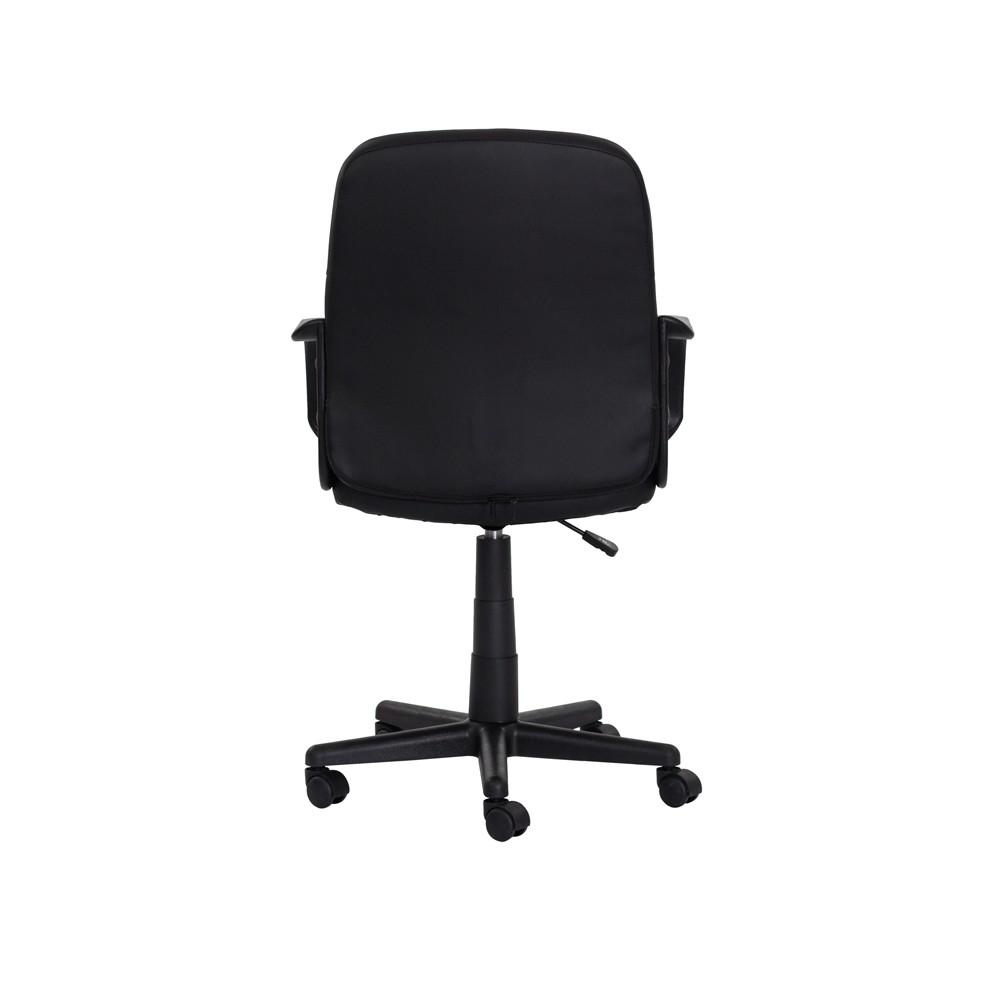 Cadeira Escritório Black Diretor Preta Base Giratória Altura Ajustável