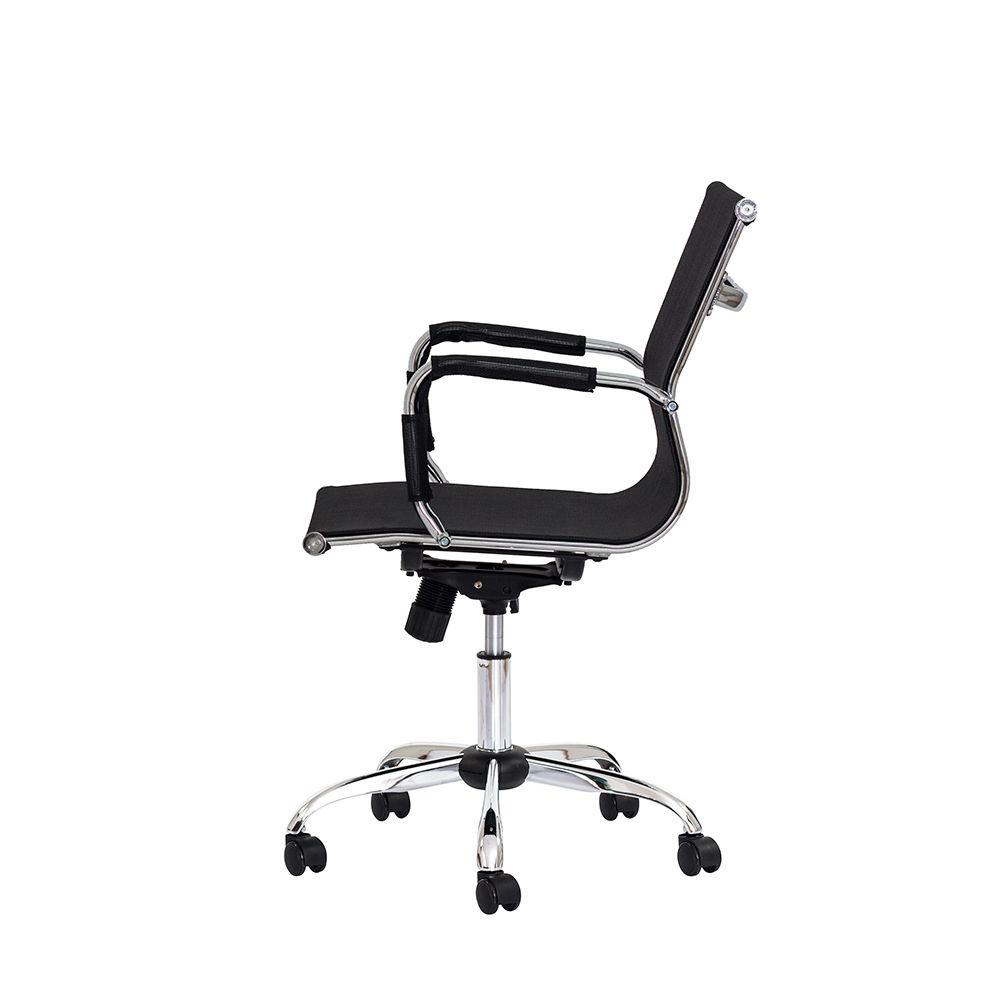 Cadeira Escritório Mesh Diretor Preta