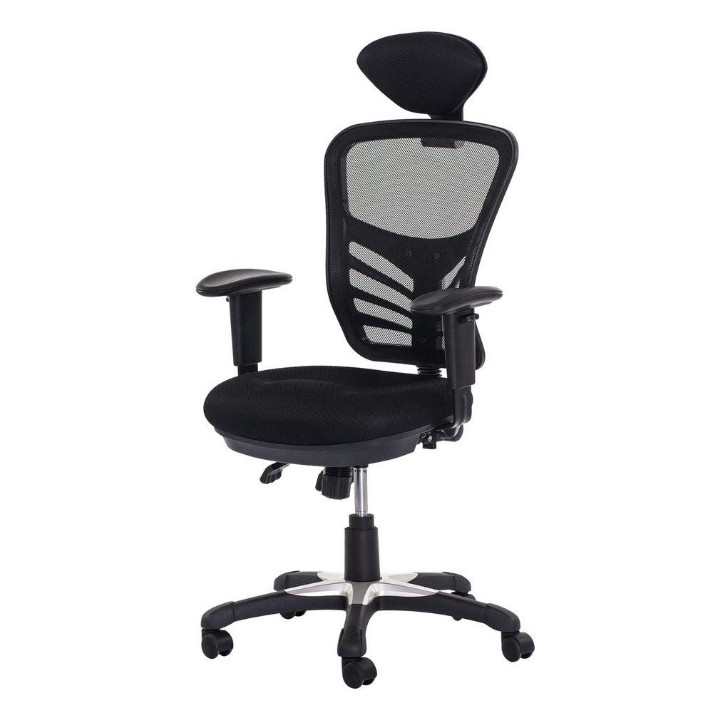 Cadeira Escritório Mesh Presidente 3 Alavanca Preta
