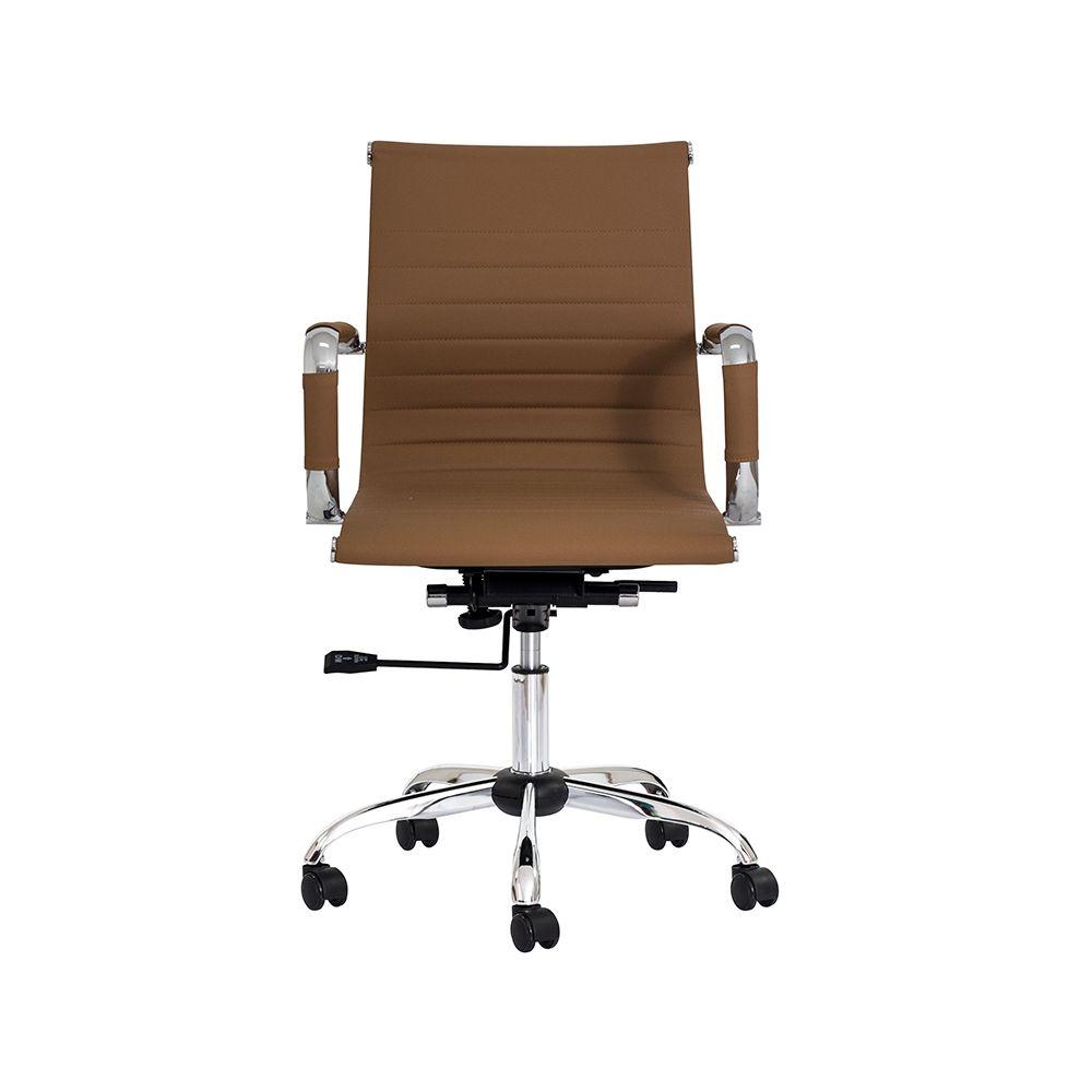 Cadeira Escritório Stripes Diretor PU Caramelo