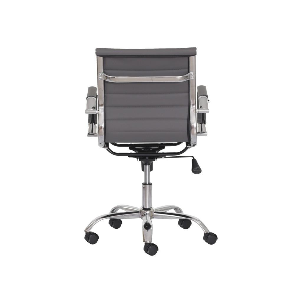Cadeira Escritório Stripes Diretor PU Cinza