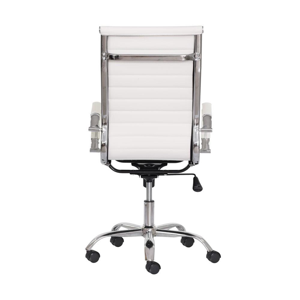 Cadeira Escritório Stripes Presidente PU Branca
