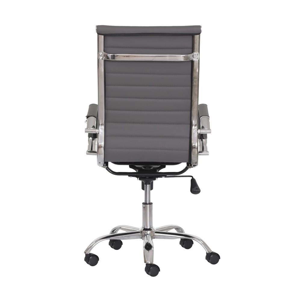 Cadeira Escritório Stripes Presidente PU Cinza