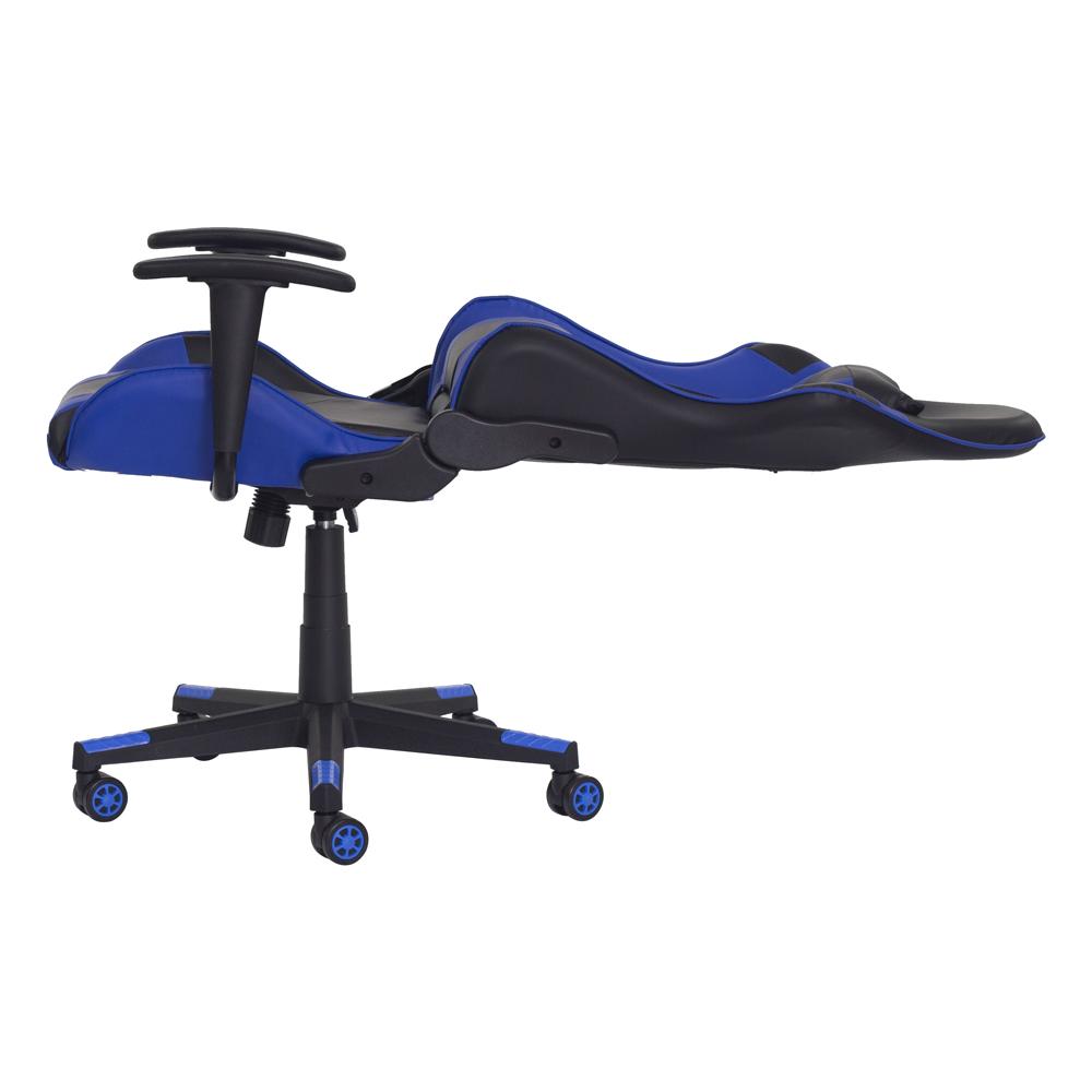 Cadeira Gamer Ben Reclinável 180º Giratória Preto com Azul Altura Ajustável