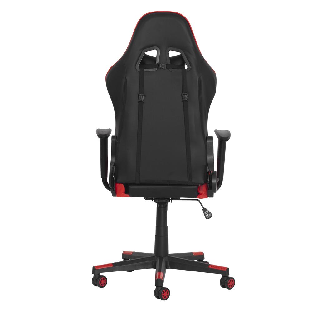 Cadeira Gamer Ben Reclinável 180º Giratória Preto com Vermelho Altura Ajustável