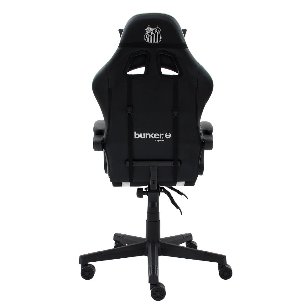 Cadeira Gamer Racer    Oficial - Santos F.C Reclinável Altura Ajustavel Função Relax