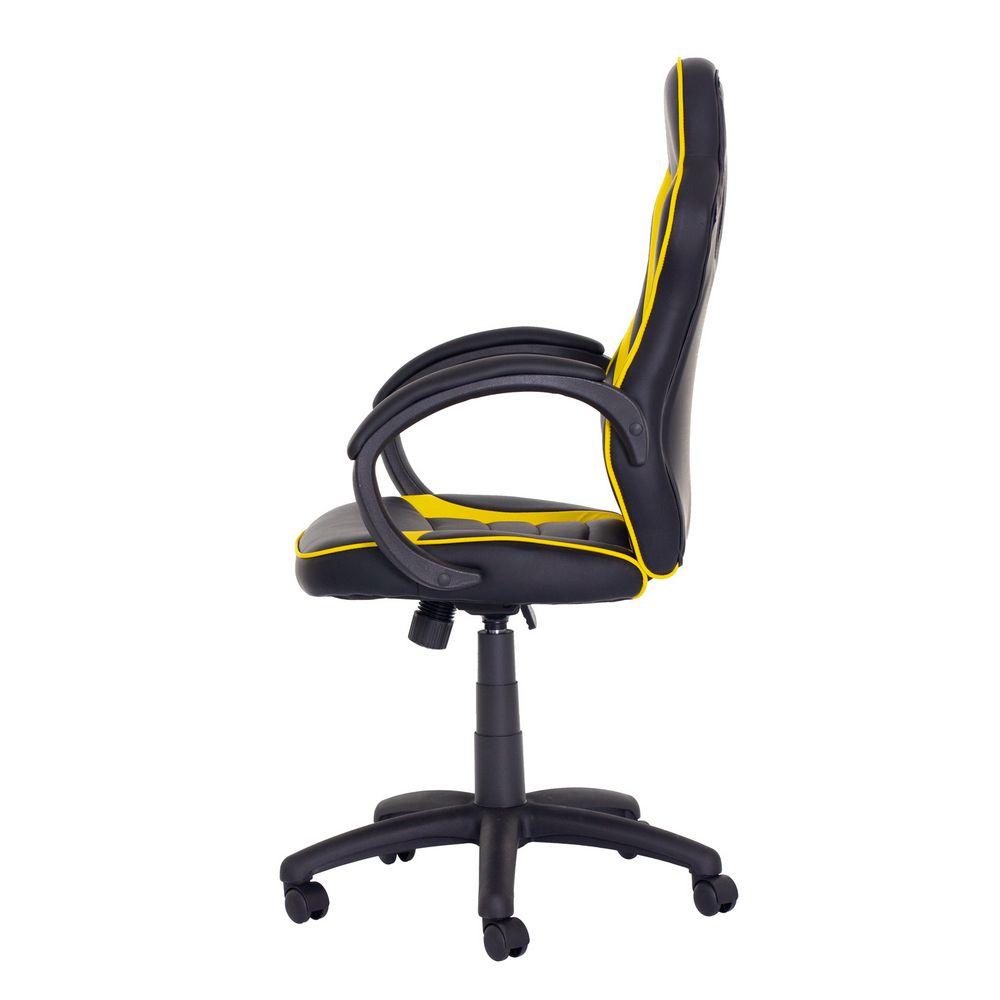 Cadeira Gamer Racer PU Preta com Amarelo