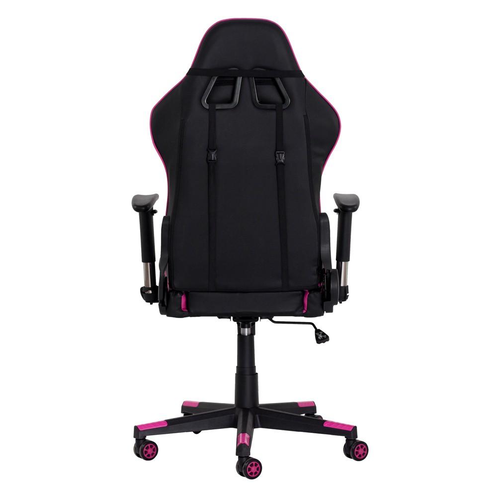 Cadeira Gamer II Reclinável 180º Giratória Preta com Pink Altura Ajustável Função Relax