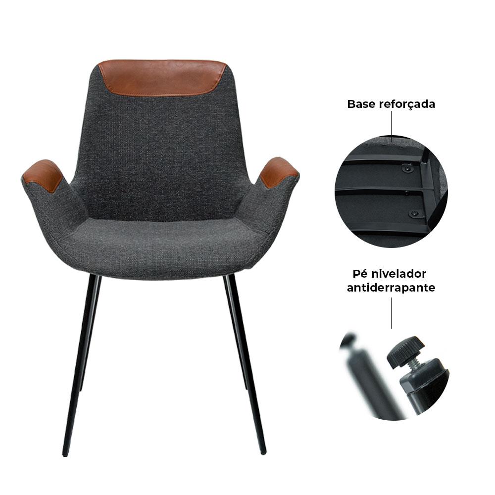 Cadeira Luiza Cinza