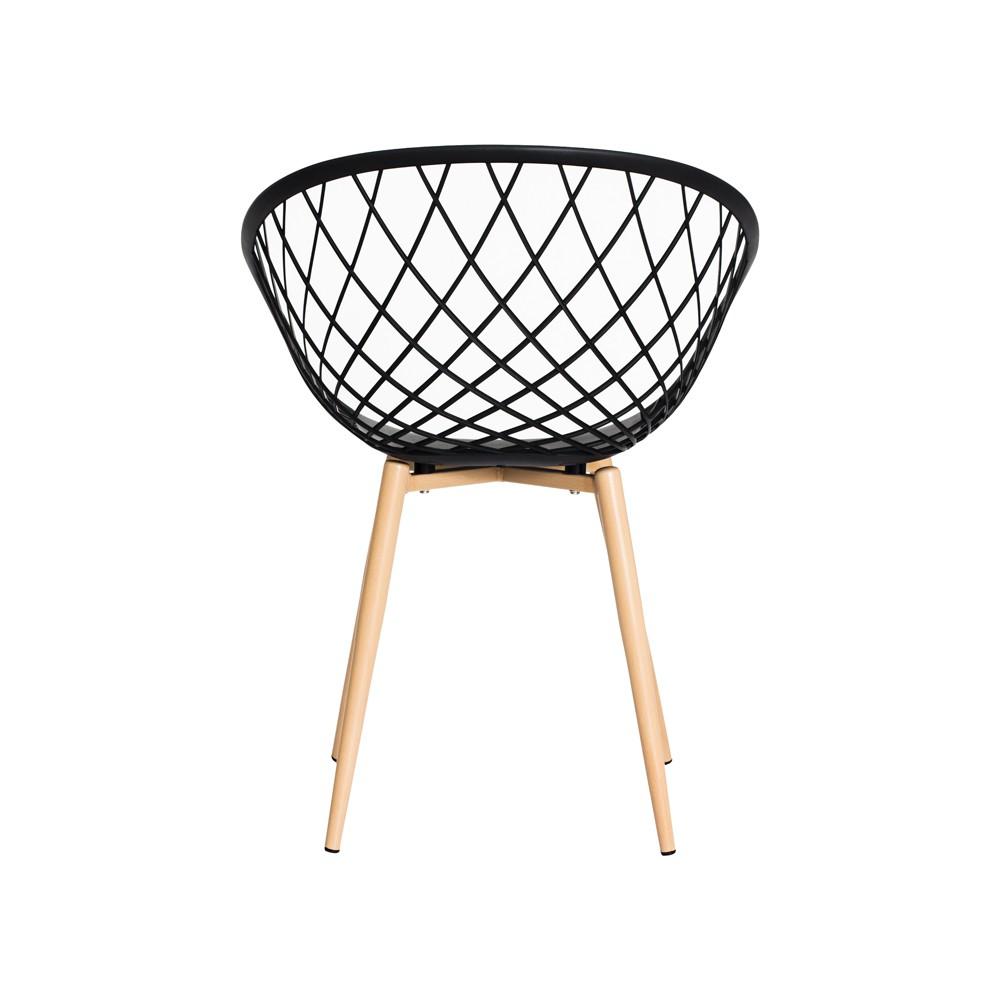 Cadeira Nova Web Preta Base Metal