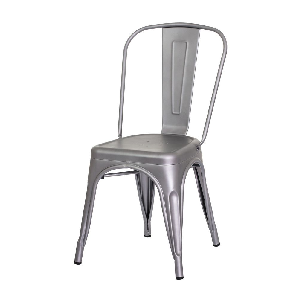 Cadeira Tolix Iron Design Cinza Fosco