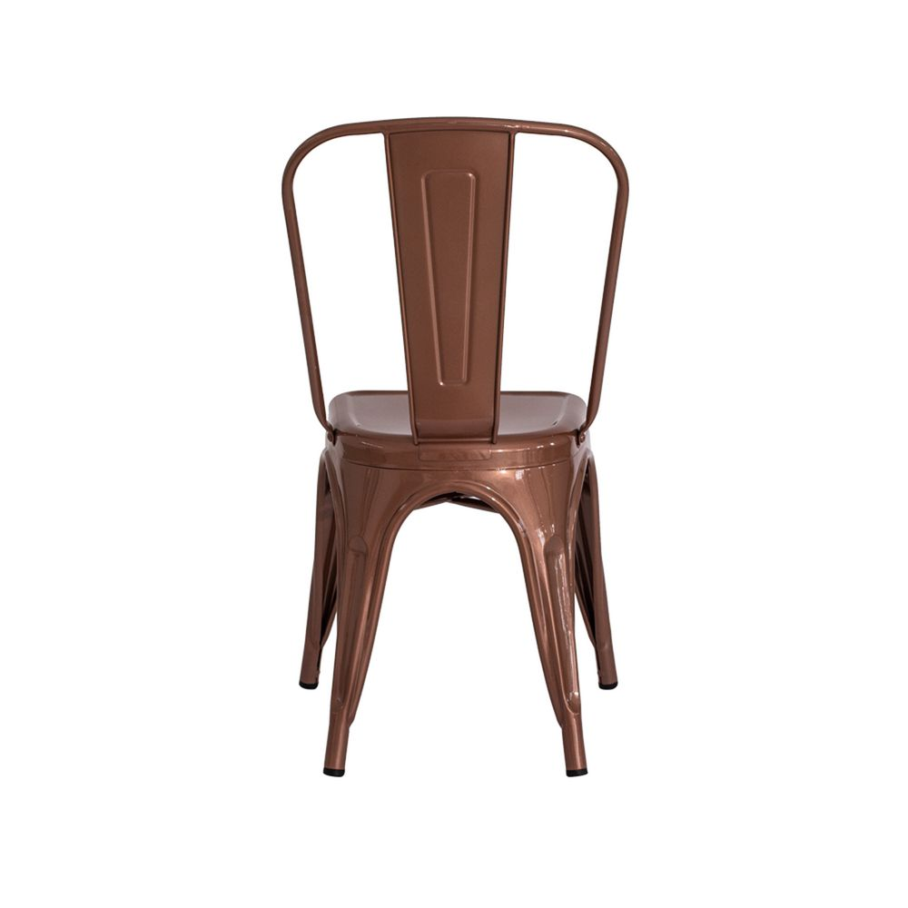 Cadeira Tolix Iron Design Rose Gold