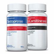 01 L-Carnitina + 01 Testopro®500 c/ 60 cápsulas cada