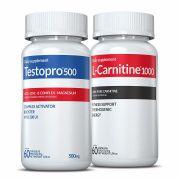 Combo 01 L-Carnitina + 01 Testopro®500 c/ 60 cápsulas cada