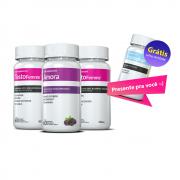 02 Testofemme ®  + 01 Amora Miura c/ 60 cápsulas cada + GRÁTIS 01 Tryptophan (triptofano) c/ 30 cápsulas (MENOPAUSA)