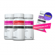02 Testofemme®  + 01 L-Carnitina c/ 60 cápsulas cada + GRÁTIS 01 Thermogenize®Femme