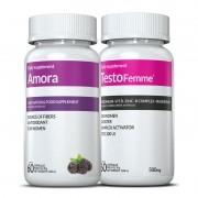 01 Amora Miura + 01 Testofemme ® c/ 60 cápsulas cada (para menopausa)