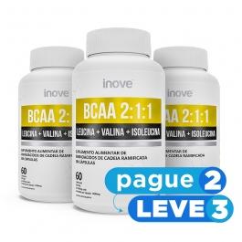 BCAA 2:1:1 - 60 cápsulas - Inove Nutrition - PAGUE 2 LEVE 3